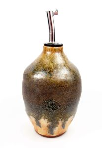 Oil Cruet in Black & Sienna