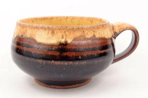 Soup Mug in Black & Cream