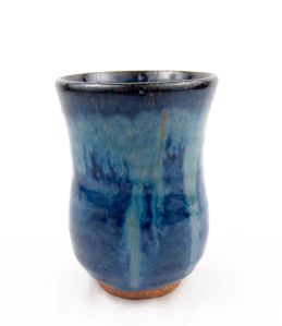 Tea Cup in Blue w/ Accents
