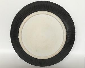 Black Rim Plate Back